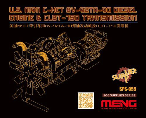 MENG-Model SPS-055 U.S.M911 C-HET 8V-92TA-90 Diesel Engine & CLBT-750 Transmission(resin)