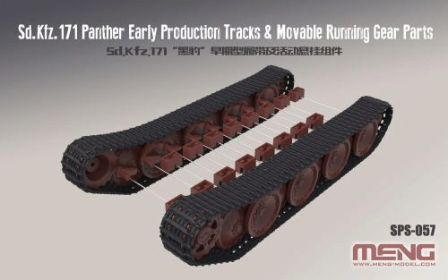 MENG-Model SPS-057 German Medium Tank Sd.Kfz.171 PantherEar Production Tracks&Movable Running GearParts