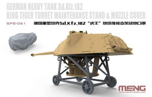 MENG-Model SPS-061 German Heavy Tank Sd.Kfz.182 King Tiger Turret Maintenance Stand&Muzzle Cover(Resin