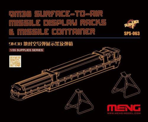 MENG-Model SPS-063 9M38 Surface-to-air Missile DisplayRacks & Missile Container (Resin)