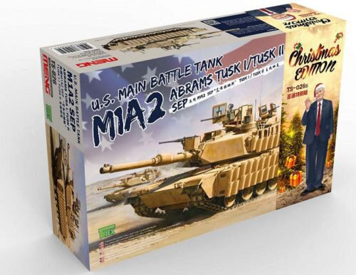 MENG-Model TS-026s U.S. Main Battle Tank M1A2 SEP Abrams TUSK I/TUSK II Limited Christmas Edit