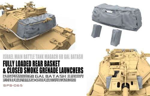 MENG-Model SPS-065 Israel Main Battle Tank Magach 6B GAL BATASH Fully Loaded Rear Basket