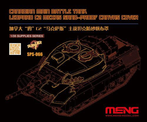 MENG-Model SPS-066 Canadian Main Battle Tank Leopard C2 MEXAS Sand-Proof Canvas Cover(Resin)