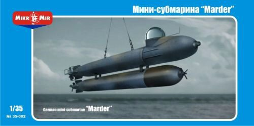 "Micro Mir  AMP MM35-002 German mini-submarine ""Marder"""