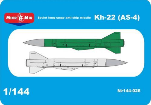 Micro Mir  AMP MM144-026 Kh-22 (AS-4)Soviet long-range anti-ship missile