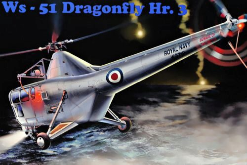 Micro Mir  AMP AMP48004 WS-51 Dragonfly Hr.3 Royal Navy