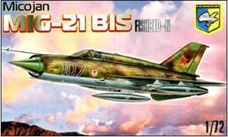 Kondor KO7201 MiG-21 BIS Fishbed-N Soviet fighter