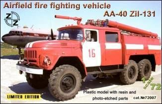 ZZ Modell ZZ72007 AA-40 ZiL-131 airf. fire fight. vehicle
