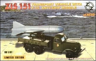 ZZ Modell ZZ87019 ZiS-151 vehicle w. P-15 anti-ship miss.