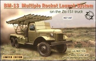 ZZ Modell ZZ87036 BM-13 Soviet rocket launch s. on ZiL-151