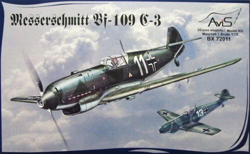 Avis AV72011 Me Bf-109 C-3 WWII German fighter