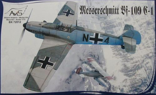Avis AV72012 Me Bf-109 C-1 WWII German fighter