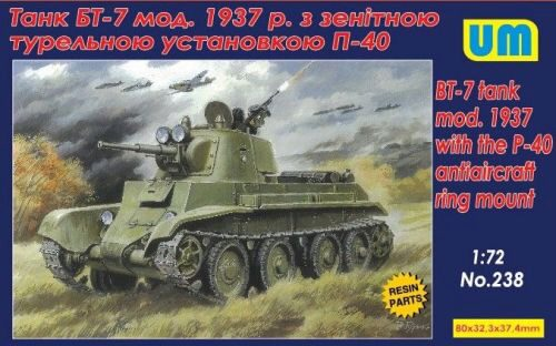 Unimodels UM238 BT-7 tank mod.1937 with the P-40 antiaircraft ring mount