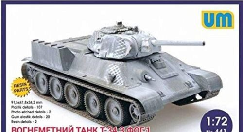 Unimodels UM441 T-34 flame-throwing tank with FOG-1