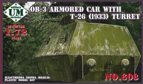 Unimodels UMT608 OB-3 Armored carriage with T-26 (1933) turret