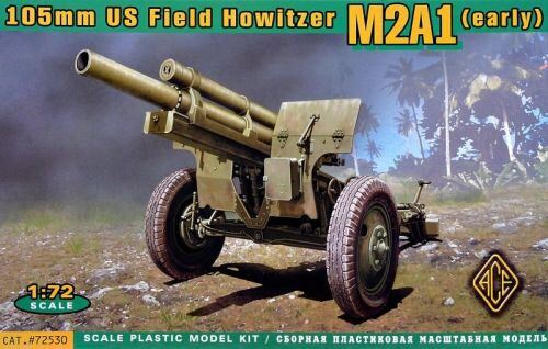 ACE 72530 US 105mm howitzer M2A1 w/M2 gun carriage