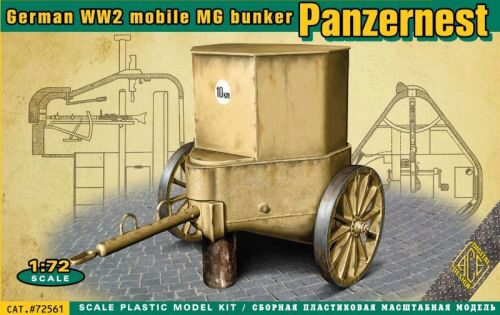 ACE 72561 WWII German mobile MG bunker Panzernest