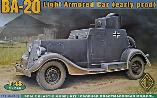 ACE 48108 BA-20 light armored car, early prod.