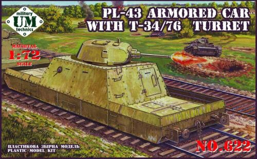 Unimodels UMT622 Pl-43 armored car with T-34/76 turret