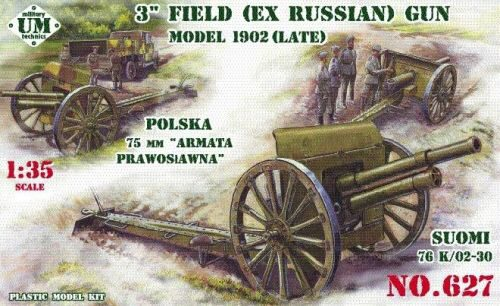Unimodels UMT627 3inch (ex Russian) field gun, 1902(late)