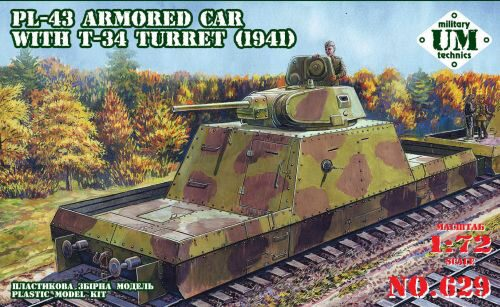 Unimodels UMT629 PL-43 armored car with T-34 turret, 1941