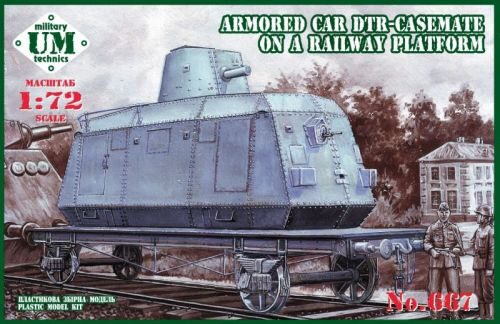 Unimodels UMT667 Armored car DTR-casemate on railway plat
