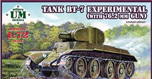 Unimodels UMT668 BT-7 Experimental tank with 76.2mm gun
