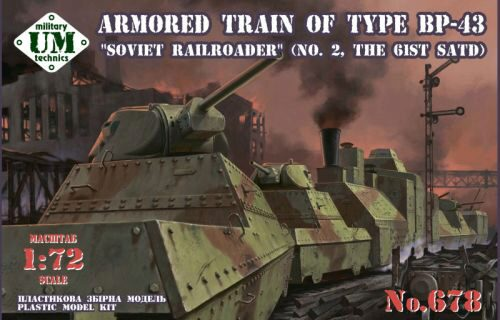 Unimodels UMT678 Armored train of type BP-43Soviet rail- roader (#2,the 61st. SATD)