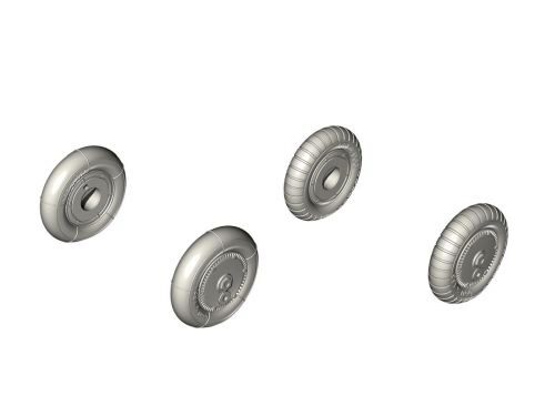 CMK 129-Q72351 Bf 109G-6 Wheel set (smooth and ribbed tyres)