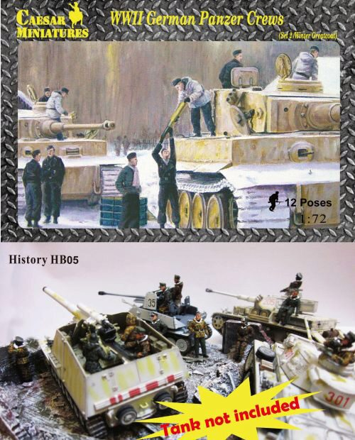 Caesar Miniatures HB05 WWII German Panzer Crews (Sets2)