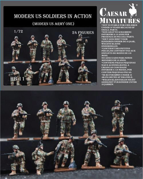 Caesar Miniatures HB11 Moders US Soldiers in Action
