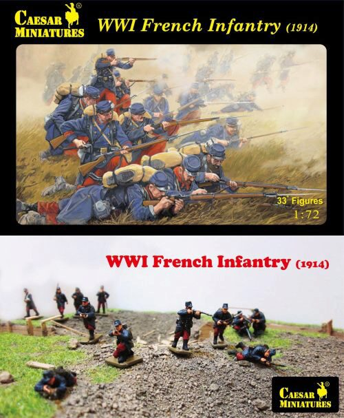 Caesar Miniatures H034 WWI French Infantry (1914)