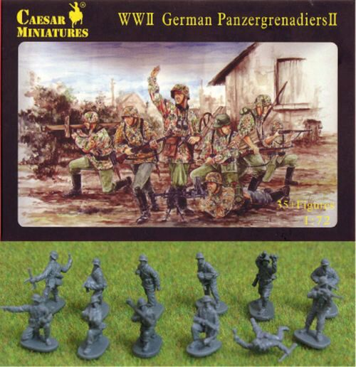 Caesar Miniatures H053 WWII German Panzergrenadiers