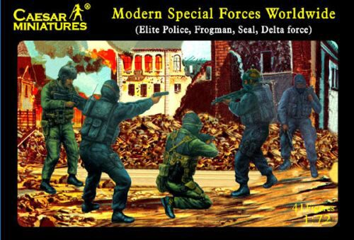 Caesar Miniatures H061 Modern Special Forces (Elite Police, Frogman, Seal, Delta Force)