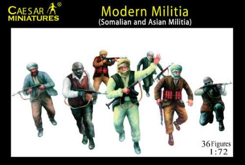 Caesar Miniatures H063 Modern Militia (Somalian and Asian Militia)