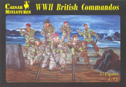 Caesar Miniatures H073 WWII British Commandos
