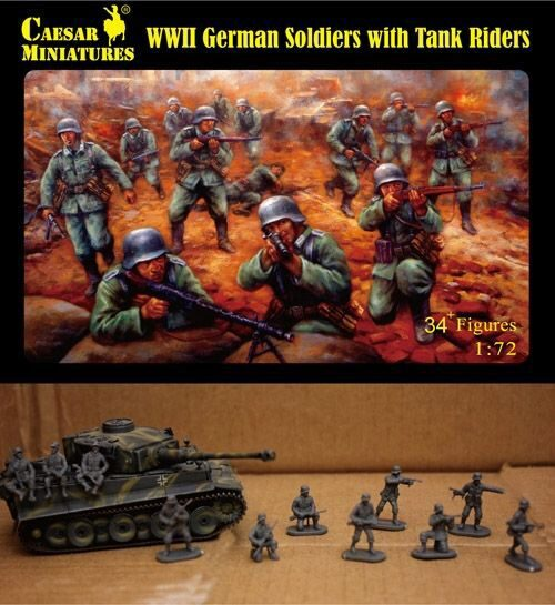 Caesar Miniatures H077 WWII German Soldiers with Tank Riders