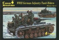 Caesar Miniatures H079 WWII German Infantry Tank Riders