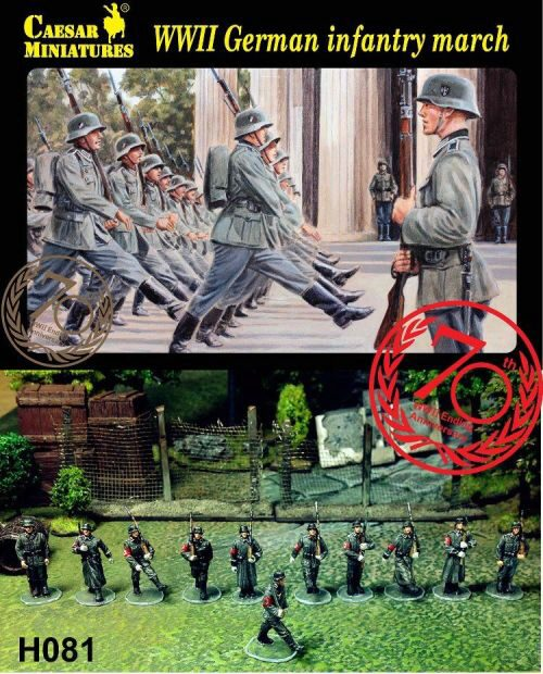 Caesar Miniatures H081 WWII German Infantry Marching