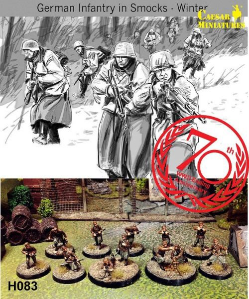 Caesar Miniatures H083 WWII German Infantry in Smocks-Wi