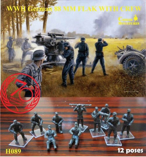 Caesar Miniatures H089 WWII German Anti-aircraft (AA) Crew