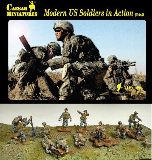 Caesar Miniatures H094 Modern US Soldiers in Action Sets2