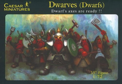 Caesar Miniatures F101 Dwarves (Dwarfs) Dwarf's axes are ready!!