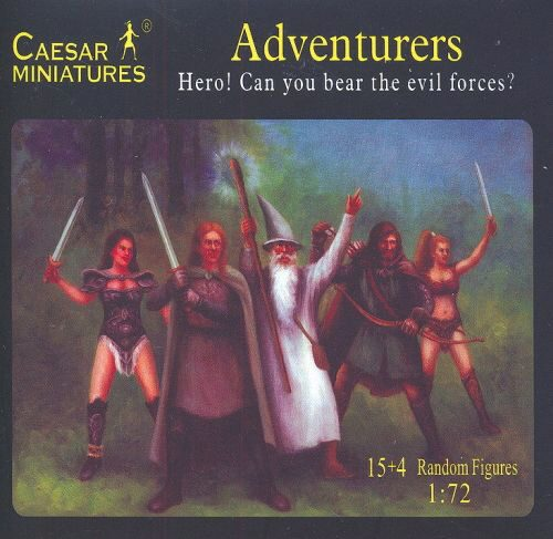 Caesar Miniatures F104 Adventurers Hero! Can you bear the evil forces?