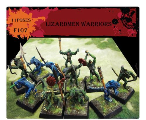 Caesar Miniatures F107 Lizardmen Warriors