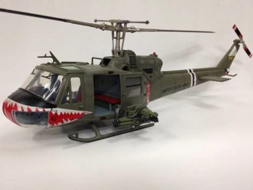 "Merit 60028 UH-1 Huey C-174th Assault Helicopter Com Company ""Shark"""