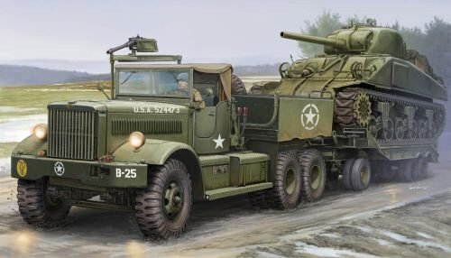 Merit 63502 US M19 Tank Transporter With Soft Top Ca