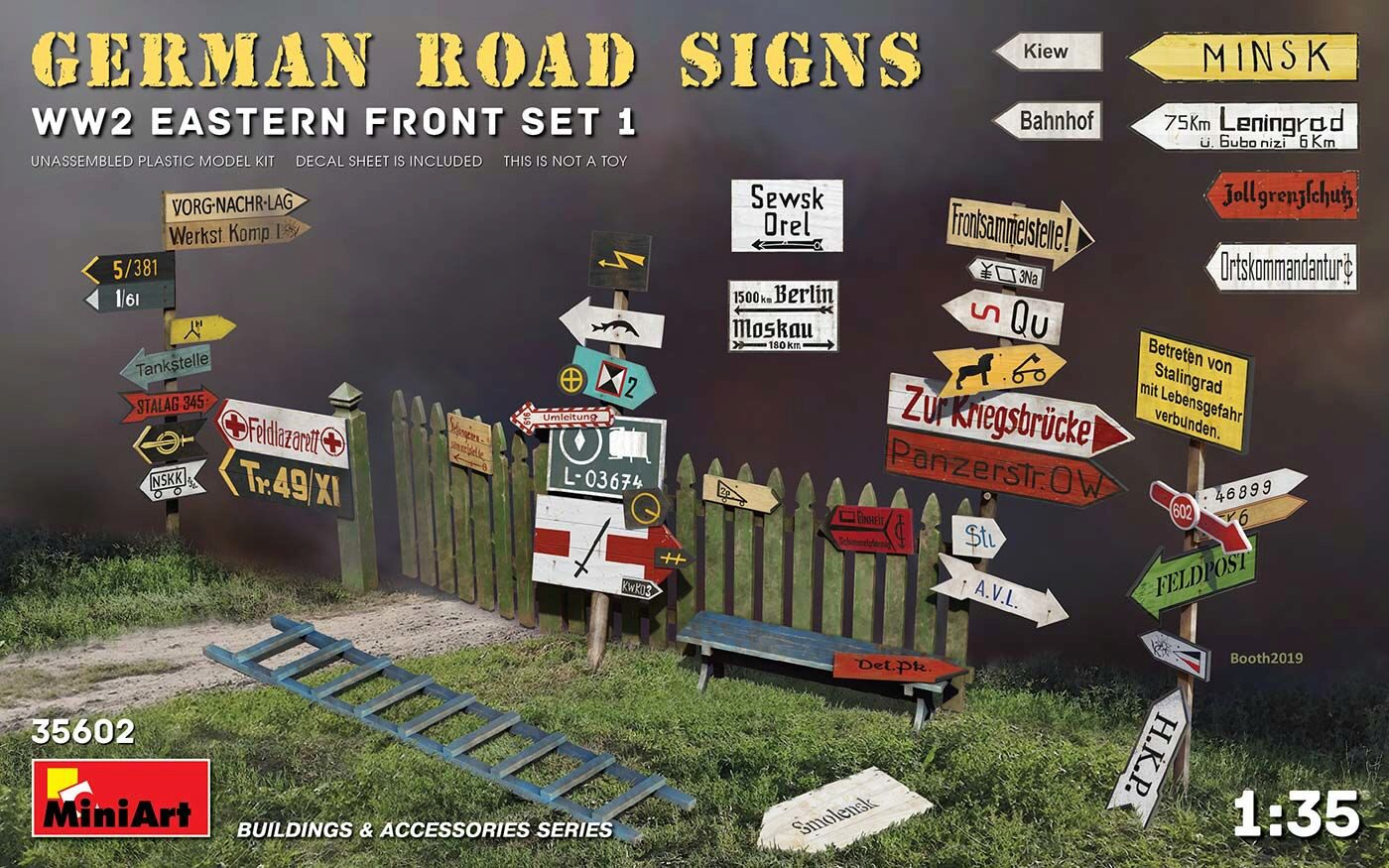 MiniArt 35602 German Road Signs WW2 (Eastern Front Set 1)
