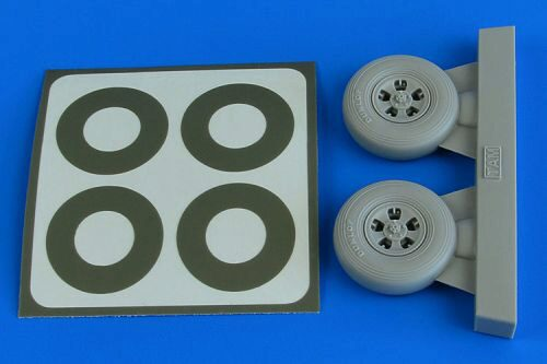 Aires 2228 Spitfire Mk.IX wheels (5-spoke) & paint masks f.Tamiya