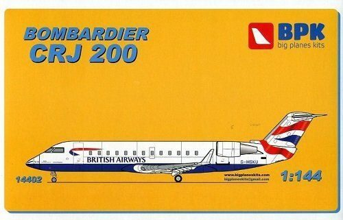 Big Planes Kits BPK14402 Bombardier CRJ 200 British airways